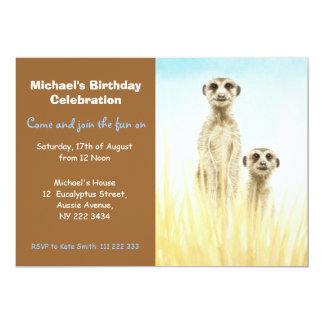 Meerkats Birthday Party Invitation