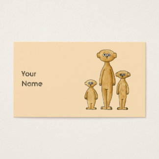 Meerkats. Business Card