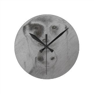 Meerkats clock