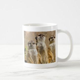 Meerkats Basic White Mug
