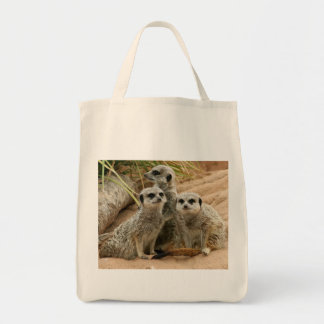 Meerkats on the lookout Organic tote Grocery Tote Bag