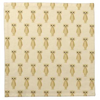 Meerkats Pattern. Napkin