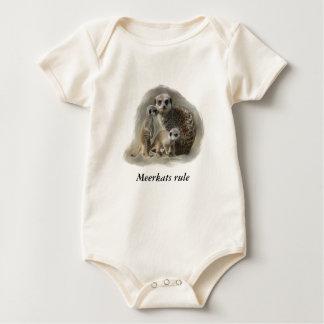 Meerkats rule baby bodysuit