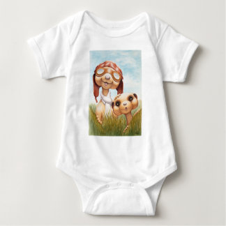 Meerkats with Aviation Apparel Onsie Baby Bodysuit