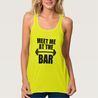 Meet me at the bar funny fitness tank top