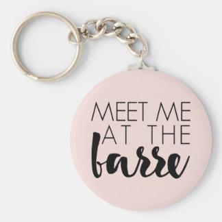 Meet Me at the Barre | Blush Pink Ballet Basic Round Button Key Ring