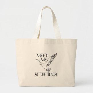 Meet Me At The Beach! Jumbo Tote Bag