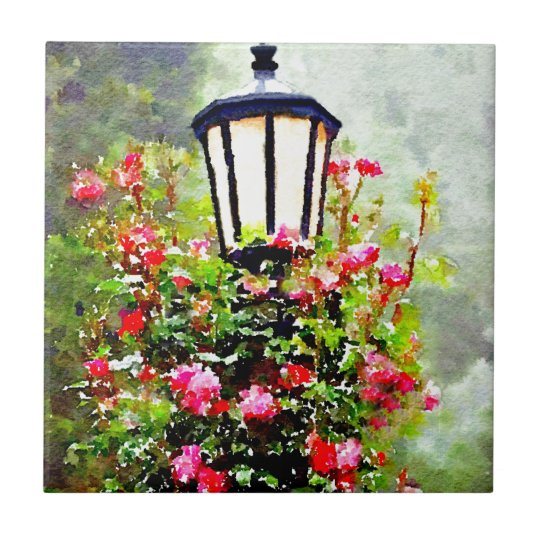 Meet Me at the Lamppost Small Square Tile