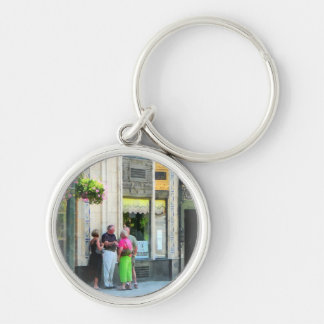 Meet Me at the S&W Silver-Colored Round Key Ring