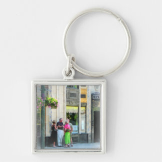 Meet Me at the S&W Silver-Colored Square Key Ring