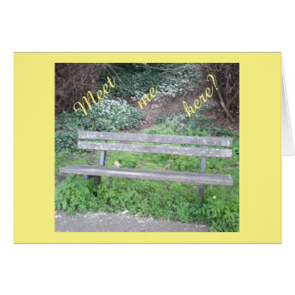 Meet me here? / Woodland Bench / Bluebell Card