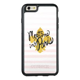 Meet Me in Paris Black and Gold OtterBox iPhone 6/6s Plus Case