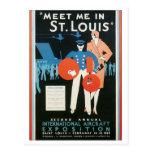 Meet Me in St. Louis Int'l Aircraft Exposition Postcard