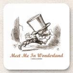 Meet Me In Wonderland (Mad Hatter Running) Drink Coaster