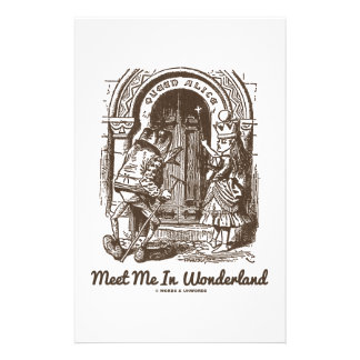 Meet Me In Wonderland (Queen Alice Frog) Customized Stationery