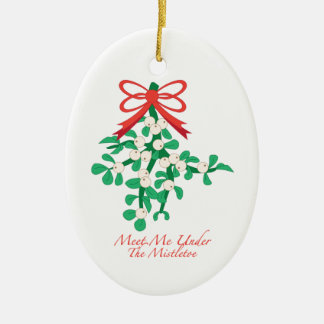 Meet Me Under the Mistletoe Ornament
