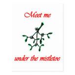 Meet Me under the Mistletoe Postcards