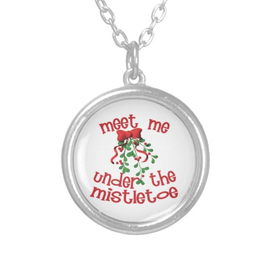 Meet Me Under The Mistletoe Silver Plated Necklace