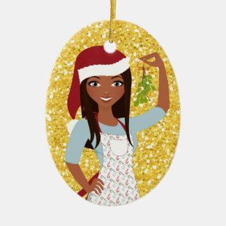 Meet Me Under the Mistletoe - SRF Christmas Ornament