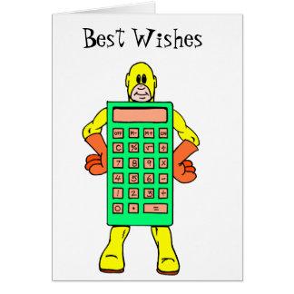 Meet Mr Calculatoir Man Card