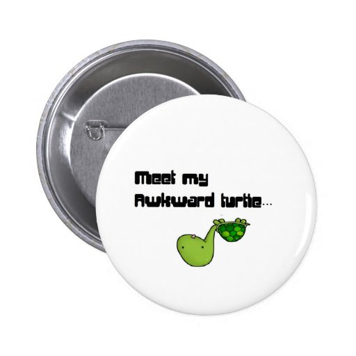 meet my turtle pinback button