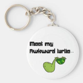 meet my turtle basic round button key ring