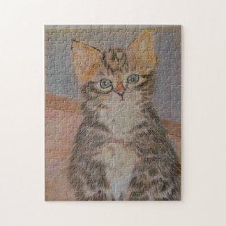 Meet Nelson, a super cute kitten design Jigsaw Puzzle