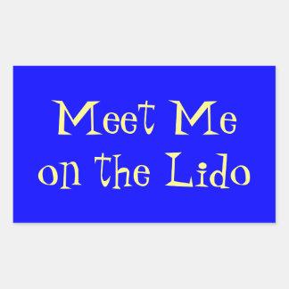 Meet on Lido Rectangular Sticker