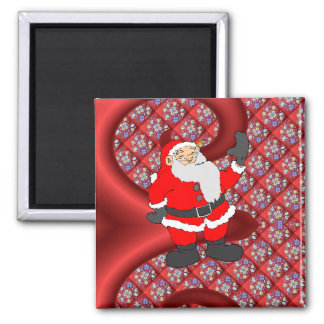 Meet Santa, Russian style design Square Magnet