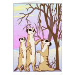 Meet the meerkats, Family in the snow Greeting Card