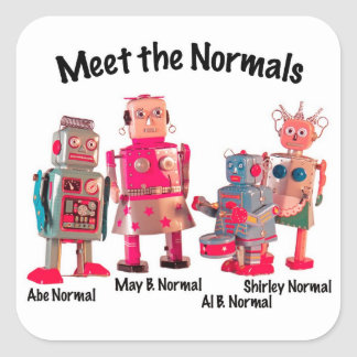 Meet the Normals Square Sticker