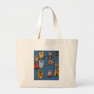 Meet the Owl Family Canvas Bag
