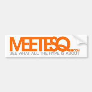 MeetESQ com bumper Bumper Stickers