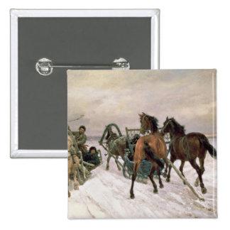 Meeting, 1876 15 cm square badge