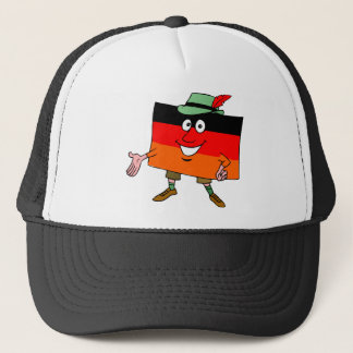 Meeting and greeting trucker hat