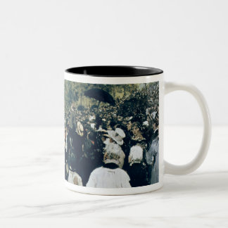 Meeting at the Mur des Federes - Pere Lachaise, 18 Two-Tone Coffee Mug