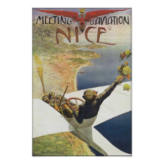 Meeting Aviation Nice Travel Poster