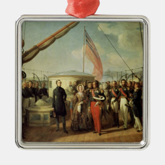 Meeting b/w Louis-Philippe and Queen Victoria Christmas Ornament