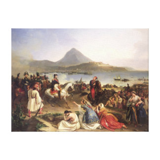 Meeting Between General Nicolas Joseph Maison Canvas Print