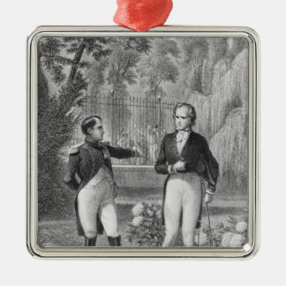 Meeting Between Napoleon I  and Benjamin Silver-Colored Square Decoration