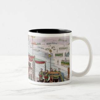 Meeting between Napoleon I & Tsar Alexander I Two-Tone Coffee Mug