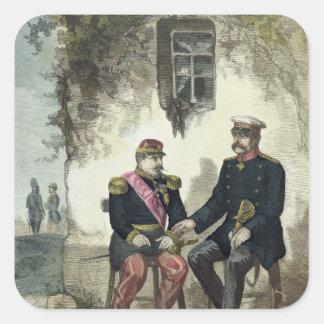 Meeting between Otto von Bismarck and Napoleon Square Sticker