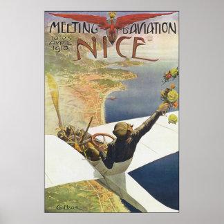 Meeting D' Aviation Poster
