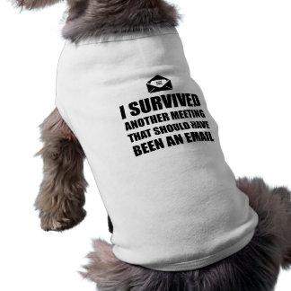 Meeting Email Sleeveless Dog Shirt
