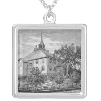 Meeting House at Hingham Silver Plated Necklace