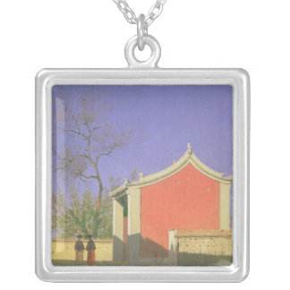 Meeting House of the Solones, Ak-Kent, 1869-70 Square Pendant Necklace