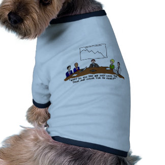 Meeting In Boardroom Color Doggie Ringer T-Shirt Doggie Tee Shirt