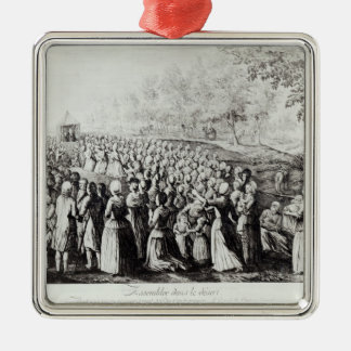 Meeting in the Desert, engraved by L. Bellotti Christmas Ornament