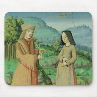Meeting of Aeneas and Anne, the sister of Dido Mouse Mat