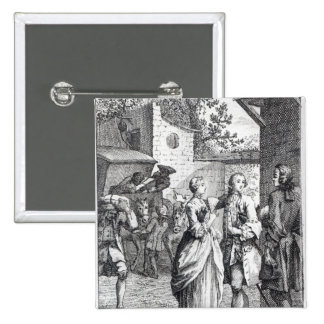 Meeting of Chevalier Des Greux and Manon 15 Cm Square Badge